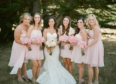 A rustic pink barn wedding by Majesta Patterson - Wedding Party