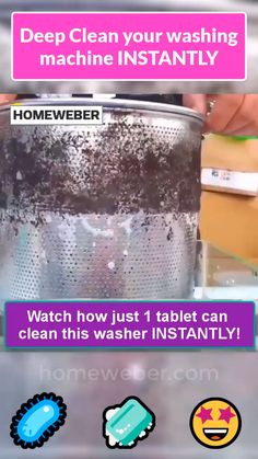 🏖Effectively DEEP CLEAN your washing machine INSTANTLY with just one tablet and enjoy a healthy life!😍 ✅ Effective ✅ All Washers