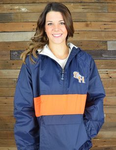 Cheer on your favorite Sam Houston team in any weather in this wind/rain resistant pull over. Go KATS!
