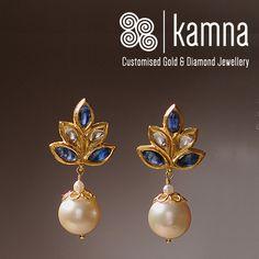Indian Jewellery Design, Indian Jewelry, Jewelry Design Earrings, Gold Earrings, Women's Fashion, Pearls, Gold Stud Earrings, Gold Pendants