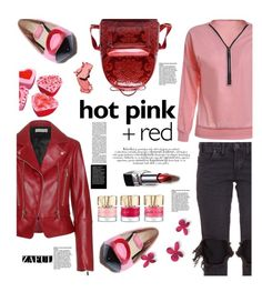 """""""Zaful.com: Hot pink+Red"""" by hamaly ❤ liked on Polyvore featuring Balenciaga, One Teaspoon and COVERGIRL"""
