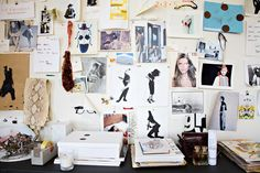 An Inside Look at Jenna Lyons's Desk in the J. Crew Offices // Jenna's mood board maps her inspirations.
