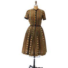 50s Dress Cotton Jungle
