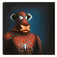 Spidermoo, by Caroline Shotton #art #Spiderman #cow #comics #movies