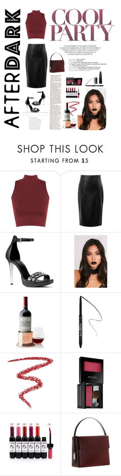 """""""After Dark: Party Outfit"""" by kathssong ❤ liked on Polyvore featuring WearAll, WithChic, MICHAEL Michael Kors, Mark & Graham, Sephora Collection, By Terry, Revlon, Lautēm, Lipstick Queen and NightOut"""