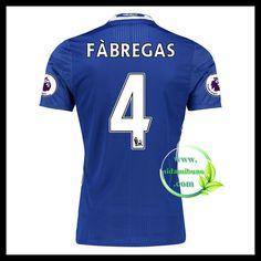 Fotballdrakter Chelsea FABREGAS #4 Hjemmedraktsett 2016-2017