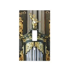 Pipe organ light switch cover