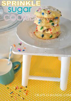 Craft-O-Maniac: Homemade Sprinkle Sugar Cookies