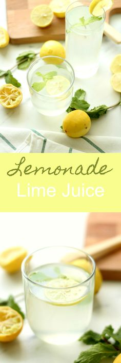 Simple, refreshing & delicious! Lemonade or lime juice is a must have this summer!