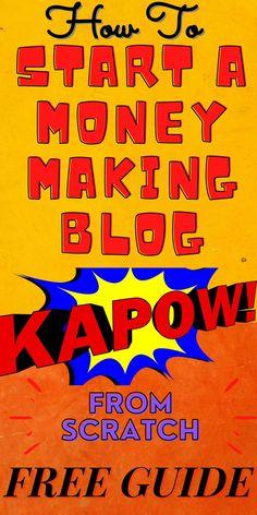 Make Money Blogging, Make Money Online, How To Make Money, Make Blog, How To Start A Blog, Up Theme, Blog Names, Online Blog, Be Your Own Boss