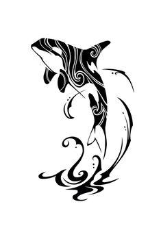 orca tattoo - Ideas for the House Orca Tattoo, Whale Tattoos, Tattoo Hals, Elephant Tattoos, Tattoo Neck, Tribal Animal Tattoos, Bat Tattoos, Animal Tattoos