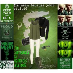 """SLYTHERIN"" by shania-webb on Polyvore"