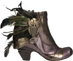 Amazon.com: Irregular Choice Say No No Ladies Bootie Feathered Low Boot Pump: Shoes
