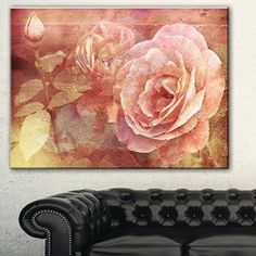 I love floral canvas wall art. It makes rooms look beautiful and spaces feel  warm and inviting. Consider using this  piece of floral wall art in combination with other types of floral #canvas wall  décor to create a floral theme based home.  Additionally use this modern abstract wall art in every room in your  home including living room, bathroom, kitchen and bedroom.      Designart PT8292-40-30 Pink Roses In Vintage Style floral Digital canvas Art Print,Pink,40x30