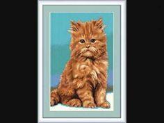 KITS PUNTO DE CRUZ Y PETIT POINT. CUADROS ANIMALES Lion Sculpture, Statue, Videos, Art, Knitwear, Punto De Cruz, Dots, Animales, Art Background