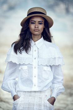 visual optimism; fashion editorials, shows, campaigns & more!: light brigade: leila nda, aya jones, imaan hammam, malaika firth, tami williams and kai newman by peter lindbergh for us vogue march 2015
