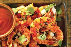 Les recettes de STEVEN RAICHLEN : cocktail de crevettes sur le BBQ