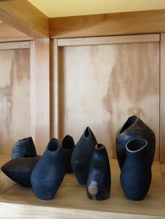 Leo Semau Raku fired vessels, Wind, Fire and Clay taken to its' best. From $70