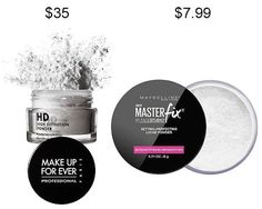 Try Maybelline Master Fix Setting + Perfecting Powder in place of Make Up For Ever HD Microfinish Powder and save about $27. | 19 Incredible Drugstore Makeup Dupes That Will Change Your Life