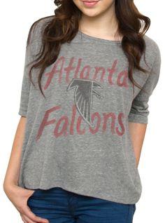 NFL Atlanta Falcons Vintage Gameday Tee - Women's Tops - Short Sleeve - Junk Food Clothing