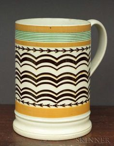 Mochaware Pint Mug, Britain, early 19th century,