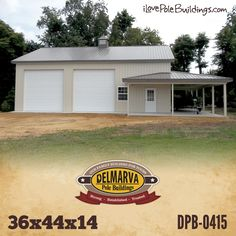 This pole building has an awesome wrap-around lean-to! Garage Building Plans, Morton Building Homes, Building A Pole Barn, Pole Barn Garage, Pole Barn House Plans, Metal Building Homes, Pole Barn Homes, Rv Garage, Pole Barns