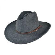 6bfc8f58df03d Gray Bull Crushable Wool Felt Aussie Hat