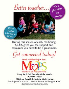 LOVE this for a new MOPS flyer...