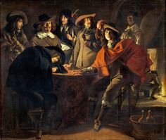 Le Nain Brothers - Smokers in an Interior [1643]   by Gandalf's Gallery