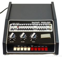 Ace Tone Rhythm Producer - An early attempt by Ace Tone (forerunner of Roland) to create a programmable drum machine. Dates from the late 60s or early 70s.