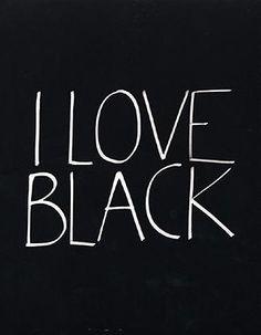 Amo il nero