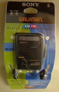 Vintage Sony Walkman am fm Stereo Cassette Player WM - FX 315