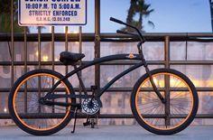 1 speed cruisers - - Men's Beach Cruiser, Skull x Bones Bicycle, Custom Cruisers for Men - Flat Black