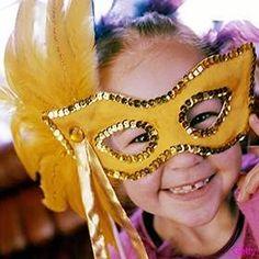 Mardi Gras Child's Mask
