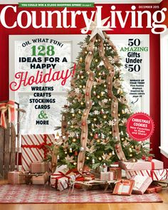 he most wonderful time of the year is here & we're celebrating with not one, but two festive Christmas covers! Celebrate the holiday season with Christmas tree inspiration, gift ideas, and more. Christmas Cover, Christmas Holidays, Christmas Cards, Christmas Decorations, Holiday Decor, Christmas Tree Inspiration, Country Living Magazine, Thing 1, Primitive Christmas