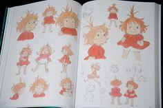 The Art of Ponyo on the Cliff by the Sea Sea Drawing, Studio Ghibli Art, Game Concept Art, Hayao Miyazaki, Japanese Artists, Kawaii, Cute Drawings, Cute Art, Character Design