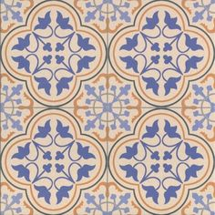 Britannia Victorian Tile Patterns - Decorative Tiles - Blue