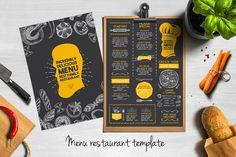 Food menu, restaurant flyer #11 by BarcelonaShop on @creativemarket