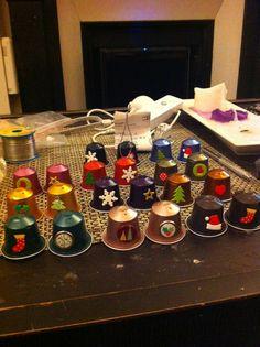 Bricolage de noel 2014 2015 on pinterest nespresso noel and free christmas - Bricolage capsule nespresso ...