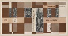 Soviet book design. Dos Passos, J. Tri soldata. [Three Soldiers.] Khar'kiv: LIM, 1934.