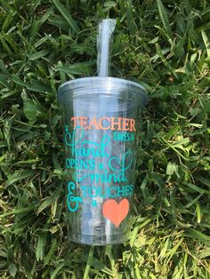 Teacher tumbler made by Heart&Home