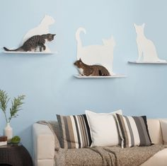 WellDoneStuff ♦dAǸ†㉫♦ Cat Silhouette Shelves