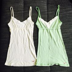 For Sale: 2 Hollister Striped Tank Tops for $14