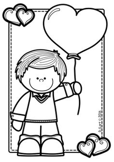 Valentine's day Coloring Pages Freebie Enjoy this free Valentine's day Pages! Spring Coloring Pages, Cat Coloring Page, Colouring Pages, Coloring Sheets, Coloring Books, Art Drawings For Kids, Drawing For Kids, Album Design, Clipart