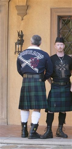 Kilt with Scotland shirt - http://www.mackinnonskilts.com/default.asp