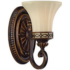 "$143 each Feiss Edwardian Collection 10"" High Wall Sconce one 100 watt bulb"