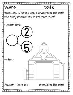 Common Core Number Bonds {Story Problems