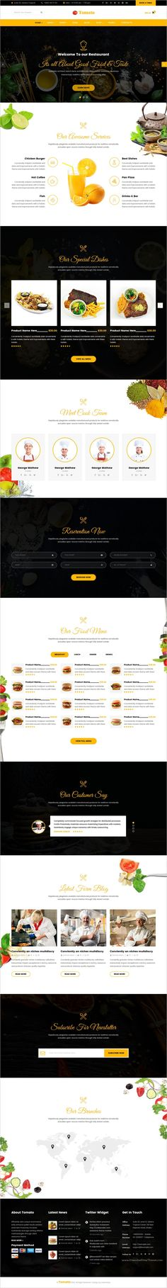 Tomato is a modern responsive #HTML #Bootstrap theme for #restaurant, cafe and fast food shops website with 3 unique homepage layouts download now➩  https://themeforest.net/item/tomatorestaurant-cafe-bar-and-food-shop-html-template/18710036?ref=Datasata
