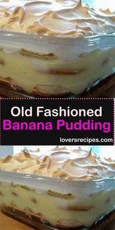 Banana Pudding Desserts, No Bake Banana Pudding, Southern Banana Pudding, Homemade Banana Pudding, Keto Pudding, Avocado Pudding, Banana Recipes, Chia Pudding, Southern Peach Cobbler