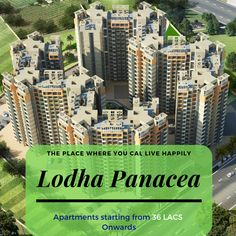 Lodha Panacea Most Luxurious and Colourful Township in Dombivali Go Green, Luxury Life, Apartments, Dreaming Of You, Floor Plans, Corner, How To Plan, Website, Live